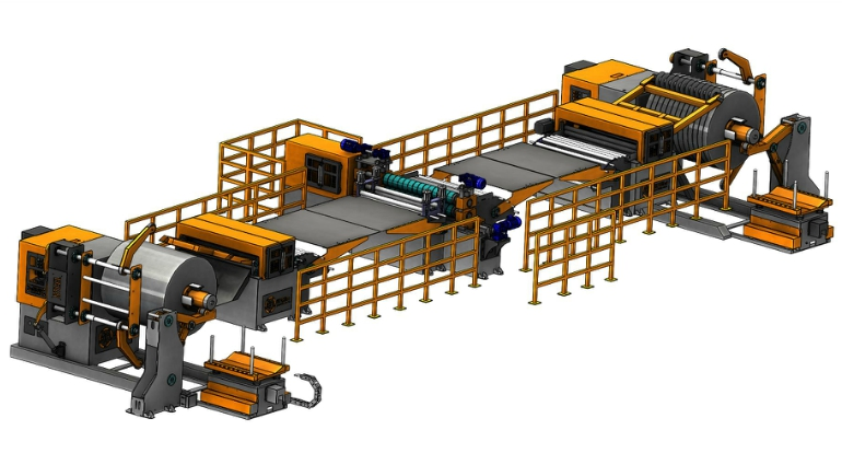 Col Slitting Line Technical Layout Drawing