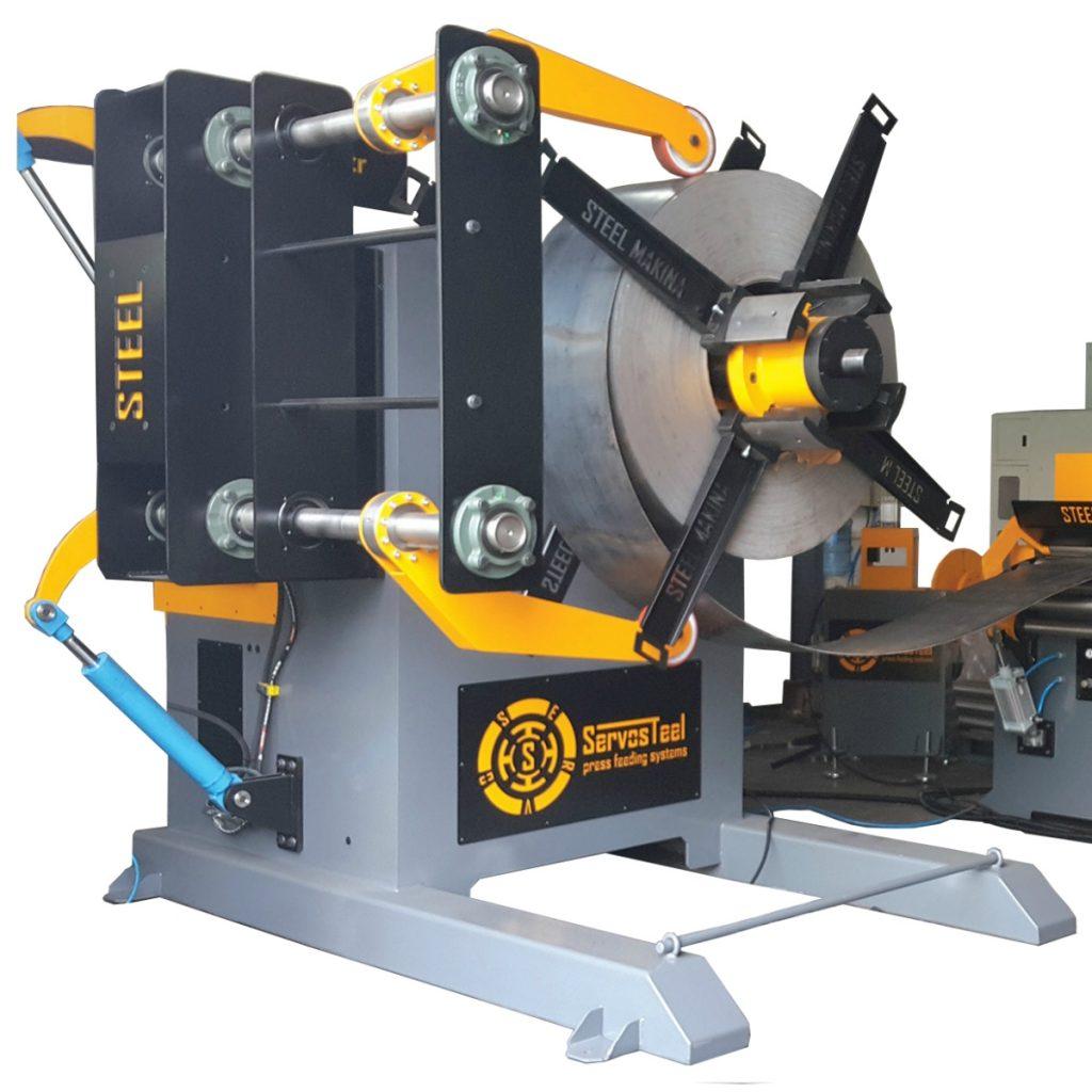 12 ton Hydraulic Decoiler 12000 kg Hydraulic Uncoiler